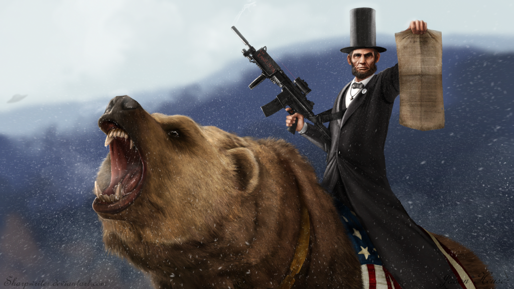 abe_lincoln_riding_a_grizzly_by_sharpwriter-d33u2nl