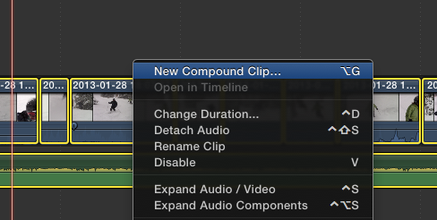 Top 5 Secrets To Get The Most Out of Final Cut Pro X create compound clip tutorials