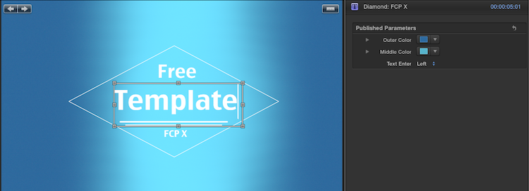 [Download] Diamond: Free FCP X Template diamond template customize free effects