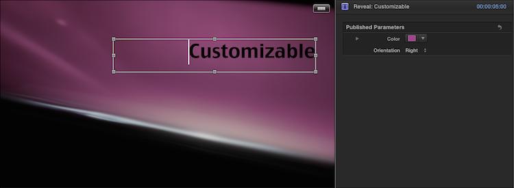 reveal-customize