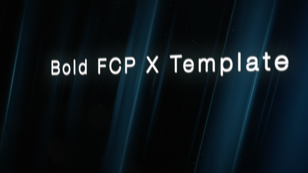 Bold FCP X Template