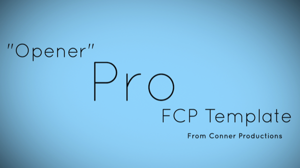 Opener FCP X Template