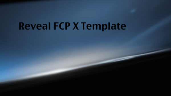 Reveal FCP X Template